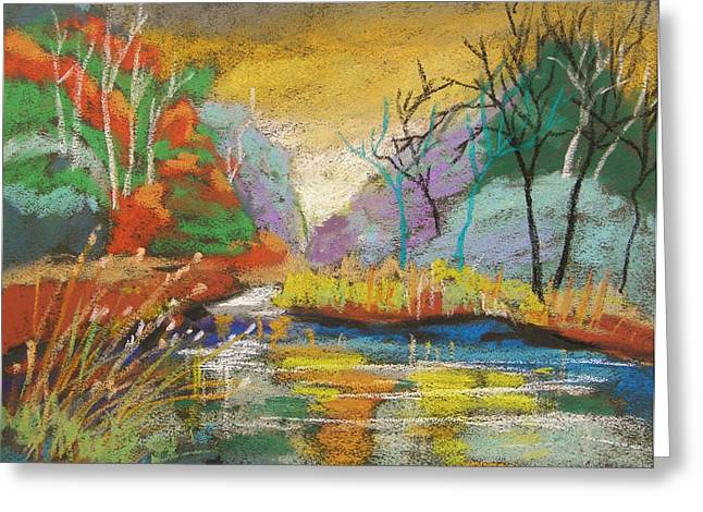 Williams Pastels Greeting Cards - Hidden at Sunset Greeting Card by John  Williams