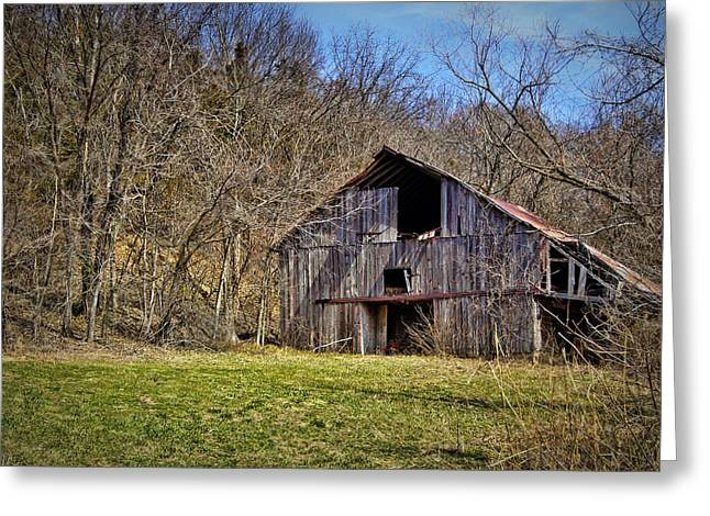 Hartsburg Greeting Cards - Hidden Barn Greeting Card by Cricket Hackmann