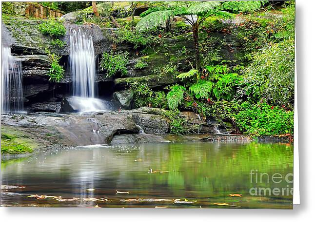 Reflection On Pond Greeting Cards - Hidden Beauty Greeting Card by Kaye Menner