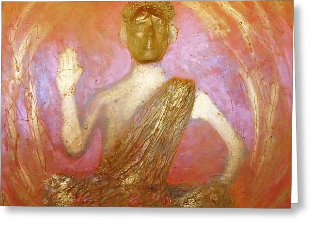 Sacred Art Reliefs Greeting Cards - Hidden Buddha Greeting Card by Matteo Rizzetto