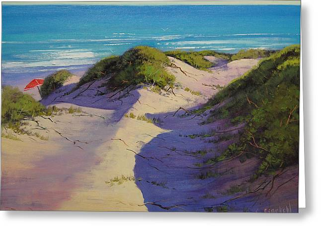 Central Coast Greeting Cards - Hidden Dunes Greeting Card by Graham Gercken