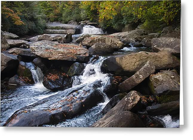 Waterfall Image Greeting Cards - Hidden Fall On The Horse Pasture River 4 Greeting Card by Chris Flees