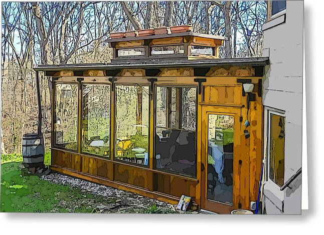 Sunporch Greeting Cards - Hidden Gems of Ann Arbor #4 Greeting Card by MJ Olsen