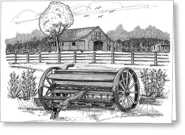 Disability Drawings Greeting Cards - Hidden Hollow Farm 2 Greeting Card by Richard Wambach