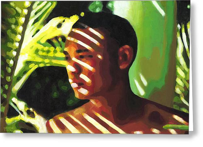 African-american Greeting Cards - Hidden in the Forest Greeting Card by Douglas Simonson