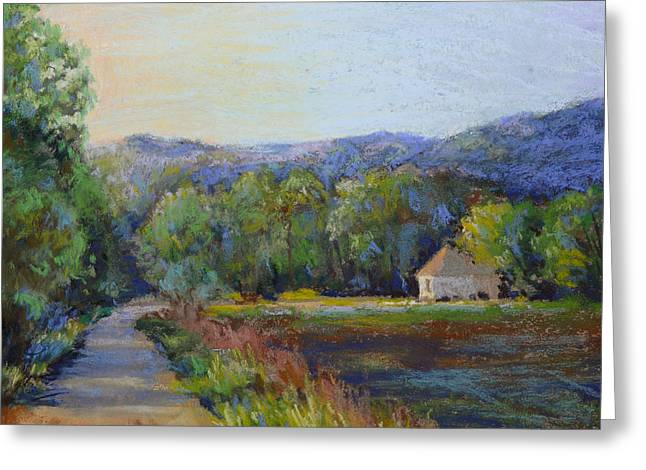 Kansas City Pastels Greeting Cards - Hidden in the Hills Greeting Card by Cristine Sundquist