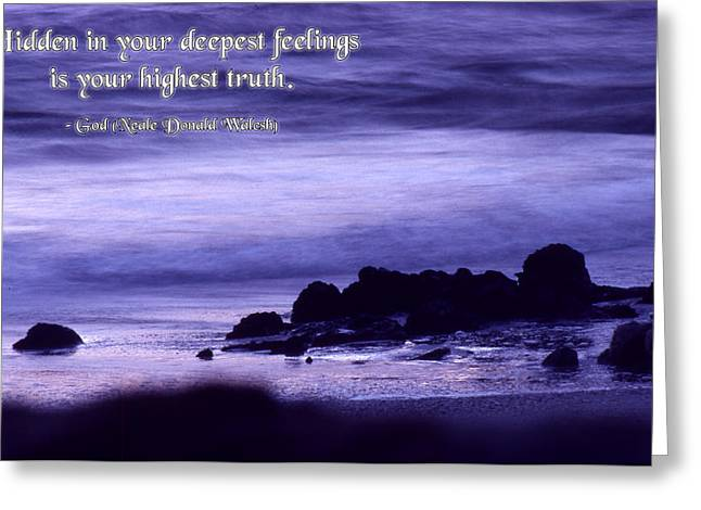 Hidden in Your Deepest Feelings Greeting Card by Mike Flynn