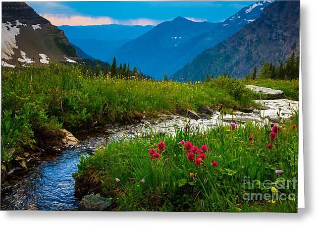Reynolds Greeting Cards - Hidden Lake Pass Greeting Card by Inge Johnsson