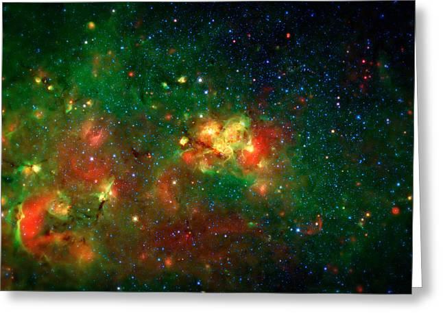 Hidden Nebula Greeting Card by The  Vault - Jennifer Rondinelli Reilly