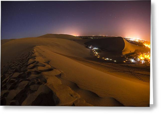 Dunes Greeting Cards - Hidden Oasis Greeting Card by Aaron S Bedell