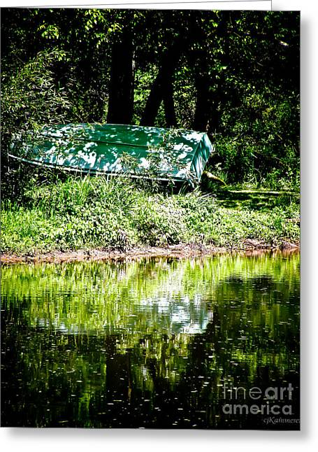 Row Boat Greeting Cards - Hidden Pleasure Greeting Card by Colleen Kammerer