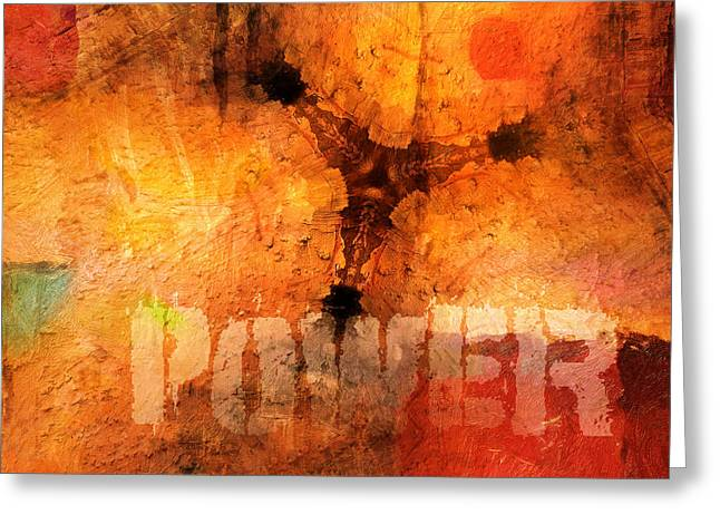 Hidden Power Artwork Greeting Card by Lutz Baar