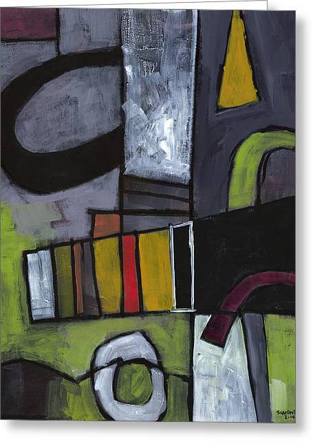 Abstract Expressionist Paintings Greeting Cards - Hidden Treasures Greeting Card by Douglas Simonson