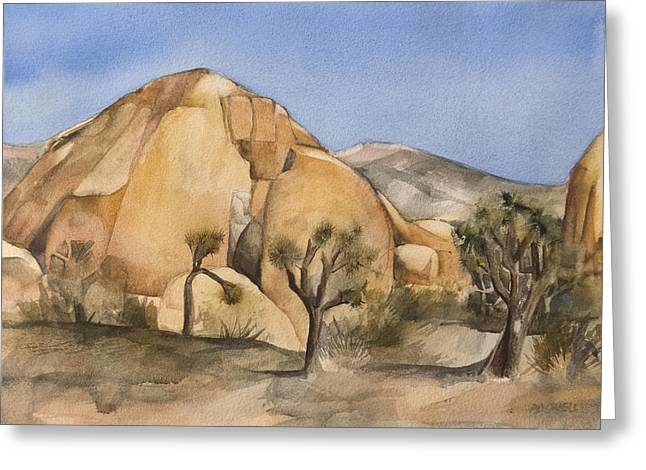 Lynne Bolwell Greeting Cards - Hidden Valley in Joshua Tree Greeting Card by Lynne Bolwell