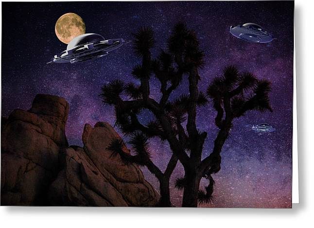 Hidden Spaces Greeting Cards - Hidden Valley Invasion Greeting Card by Sandra Selle Rodriguez