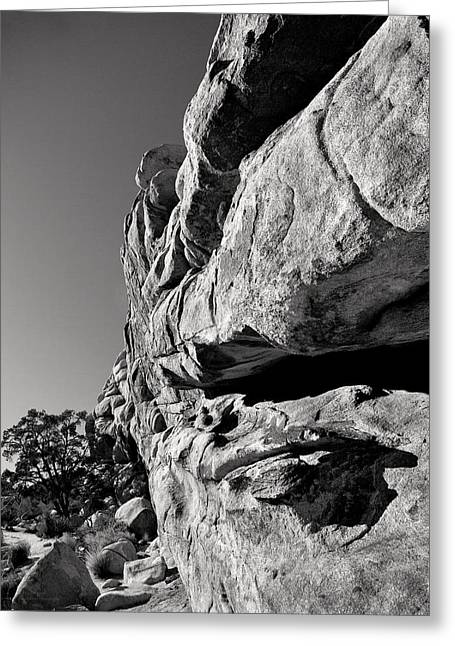 Geology Photographs Greeting Cards - Hidden Valley Rock bw Greeting Card by Denise Dube