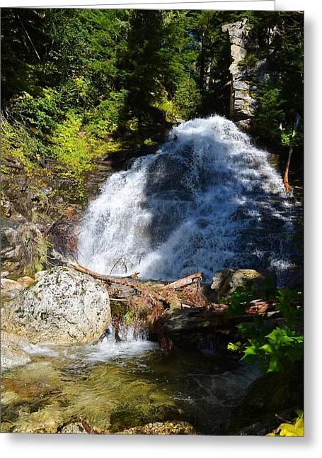 Randy Moss Photographs Greeting Cards - Hidden waterfall 4 Greeting Card by Randy Giesbrecht