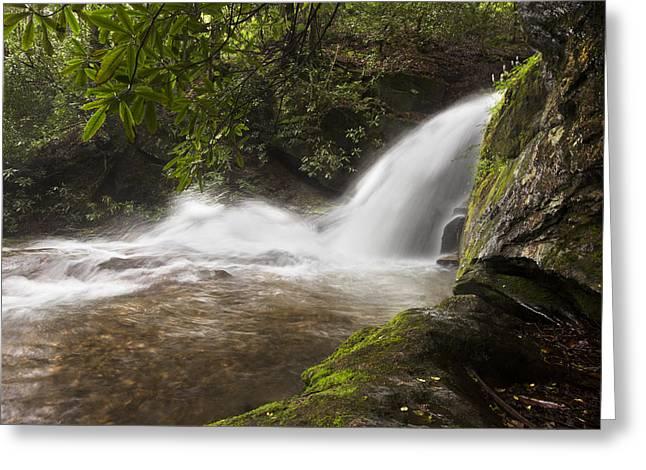 Tn Greeting Cards - Hidden Waterfall Greeting Card by Debra and Dave Vanderlaan
