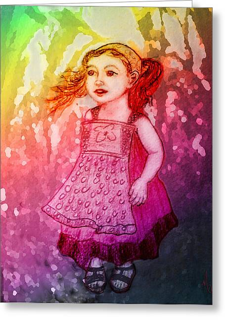 Daughter Gift Greeting Cards - Hide and Seek Greeting Card by Michelle Rene Goodhew