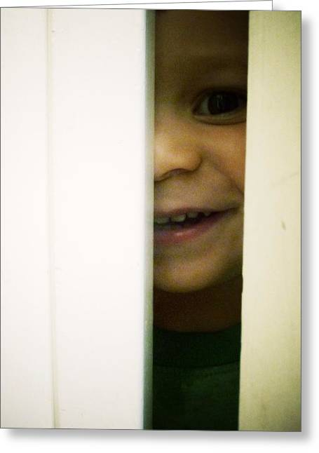 Little Boy Greeting Cards - Hide and Seek Greeting Card by Natasha Marco