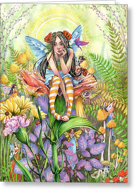 Secret Gardens Greeting Cards - Hide and Seek Greeting Card by Sara Burrier