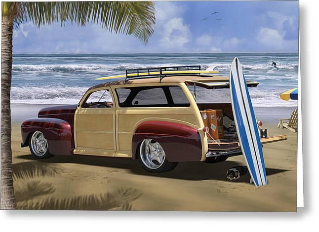 Ocean Scenes Digital Art Greeting Cards - Hideaway 2 Greeting Card by Mike McGlothlen