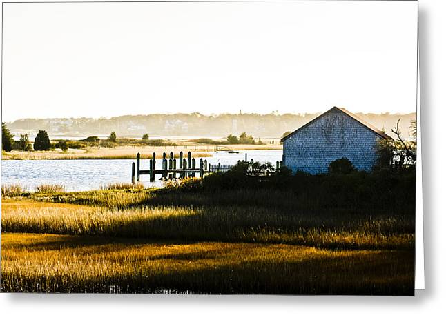Hideaway On Centerville River Greeting Card by Dennis Coates
