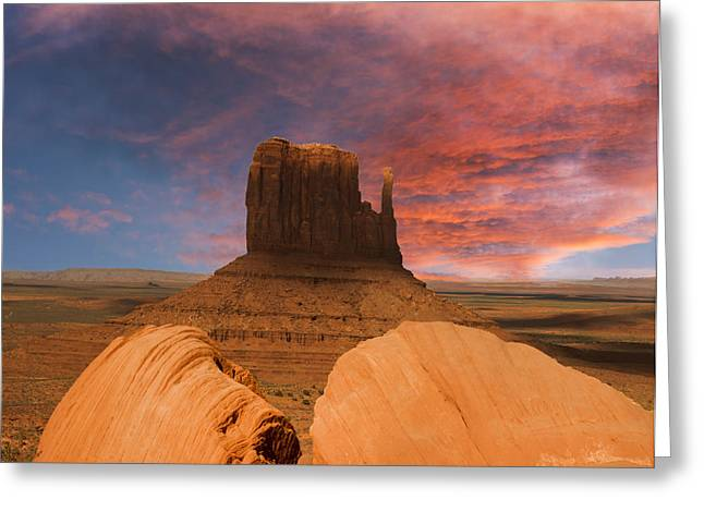 Autry Greeting Cards - Hiding behind the rocks Greeting Card by Randall Branham