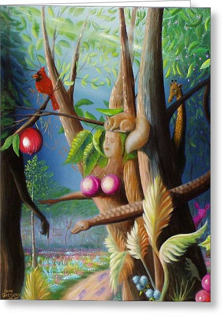 Gene Gregory Greeting Cards - Hiding in the garden. Greeting Card by Gene Gregory