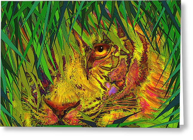 Hiding Digital Art Greeting Cards - Hiding Greeting Card by Jane Schnetlage