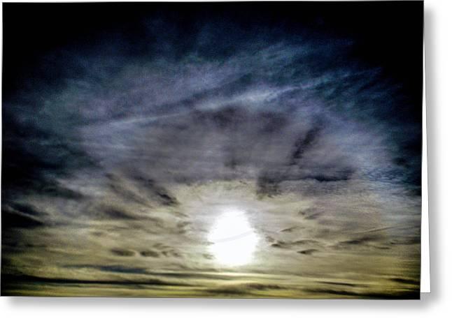 Hiding Sun Greeting Card by Christy Usilton