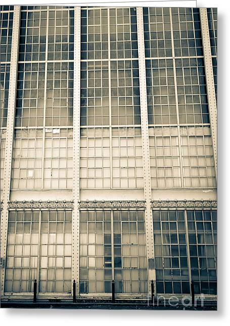 Workplace Photographs Greeting Cards - Higgins Armory Art-Deco Building Greeting Card by Edward Fielding