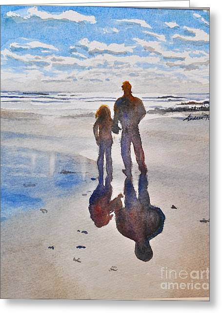 Andrea Timm Greeting Cards - Higgins Beach Greeting Card by Andrea Timm