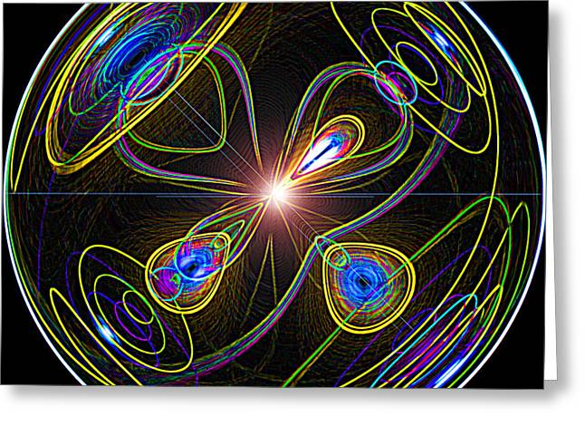 Higgs Boson Greeting Card by Samuel Sheats