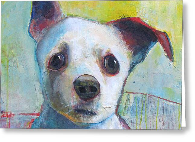 Chihuahuas Greeting Cards - High Alert Greeting Card by Mary Medrano
