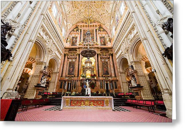 Mezquita Greeting Cards - High Altar of Cordoba Cathedral Greeting Card by Artur Bogacki
