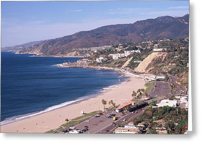 High Angle View Of A Beach, Highway Greeting Card by Panoramic Images