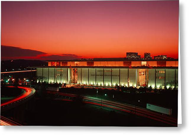 Locations Greeting Cards - High Angle View Of A Building Lit Greeting Card by Panoramic Images