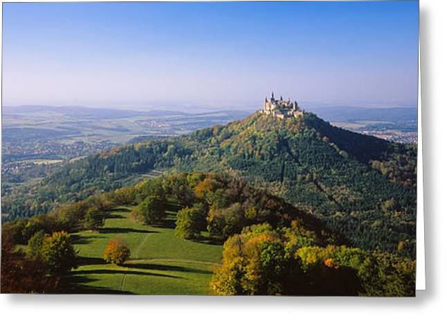 On Top Of Greeting Cards - High Angle View Of A Castle On Top Of A Greeting Card by Panoramic Images