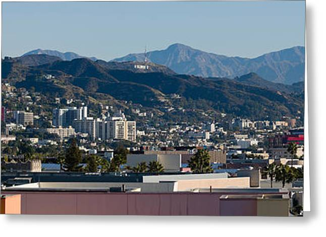 High Angle View Of A City, Beverly Greeting Card by Panoramic Images