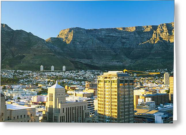 Cape Town Greeting Cards - High Angle View Of A City, Cape Town Greeting Card by Panoramic Images