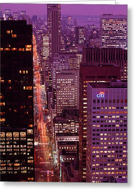 Fifth Avenue Greeting Cards - High Angle View Of A City, Fifth Greeting Card by Panoramic Images