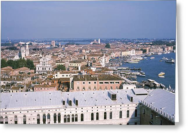 Canale Greeting Cards - High Angle View Of A City, Grand Canal Greeting Card by Panoramic Images