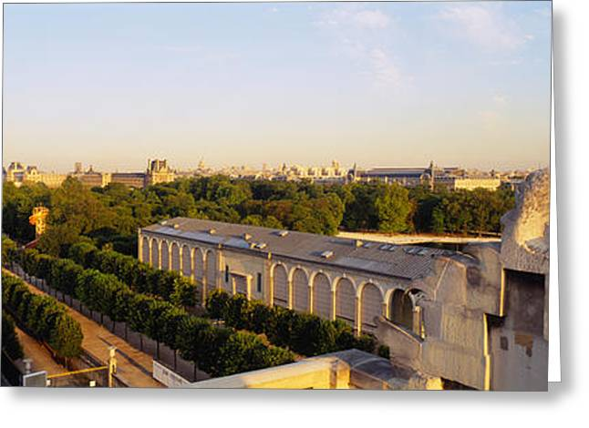 Royal Street Greeting Cards - High Angle View Of A City, Royal Greeting Card by Panoramic Images