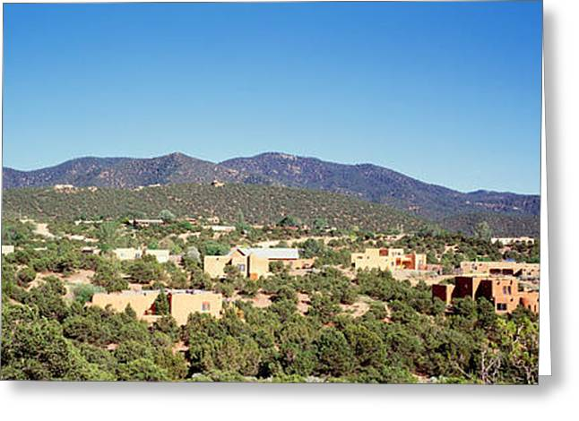 Development Greeting Cards - High Angle View Of A City, Santa Fe Greeting Card by Panoramic Images