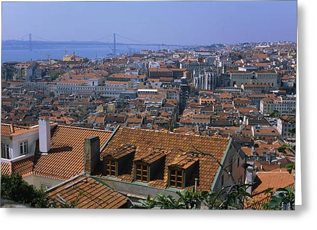 Sao Greeting Cards - High Angle View Of A City Viewed Greeting Card by Panoramic Images