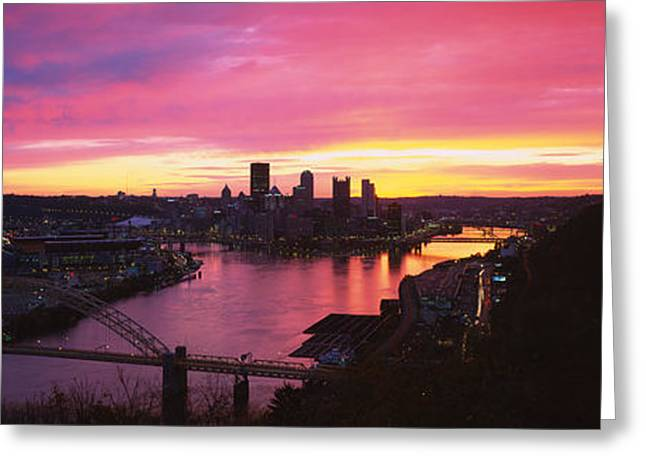 Sky High Greeting Cards - High Angle View Of A City, West End Greeting Card by Panoramic Images