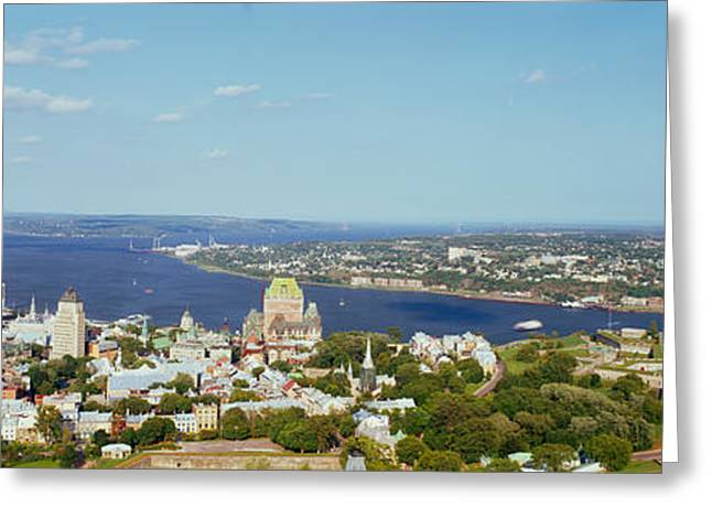 Chateau Greeting Cards - High Angle View Of A Cityscape, Chateau Greeting Card by Panoramic Images