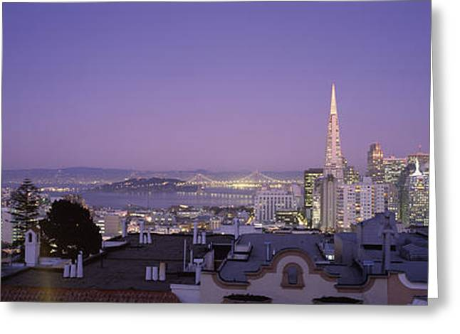 Commercial Photography Greeting Cards - High Angle View Of A Cityscape From Nob Greeting Card by Panoramic Images
