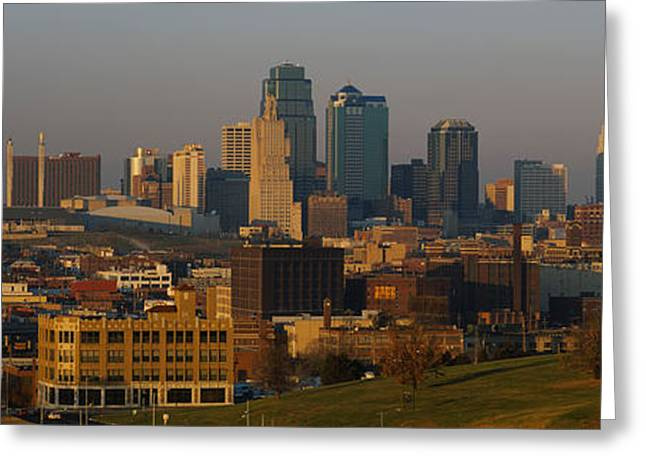 Kansas City Missouri Greeting Cards - High Angle View Of A Cityscape, Kansas Greeting Card by Panoramic Images